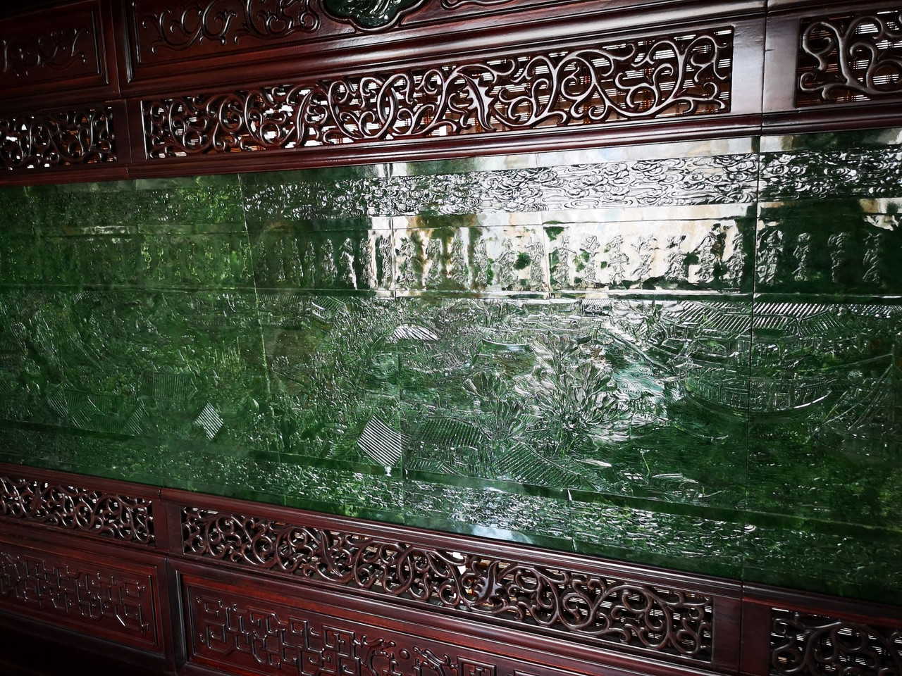 Spinach Jade Chinese Screen