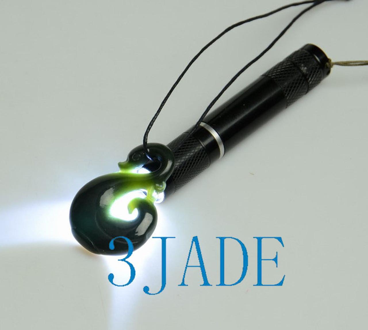 Greenstone Jade Manaia Koru Pendant