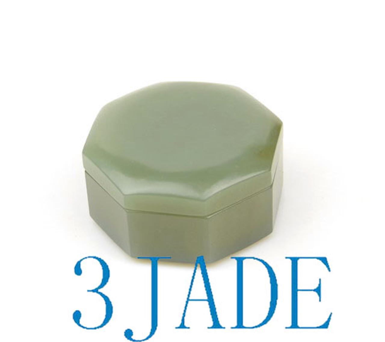 Hand Carved Nephrite Jade Powder Case