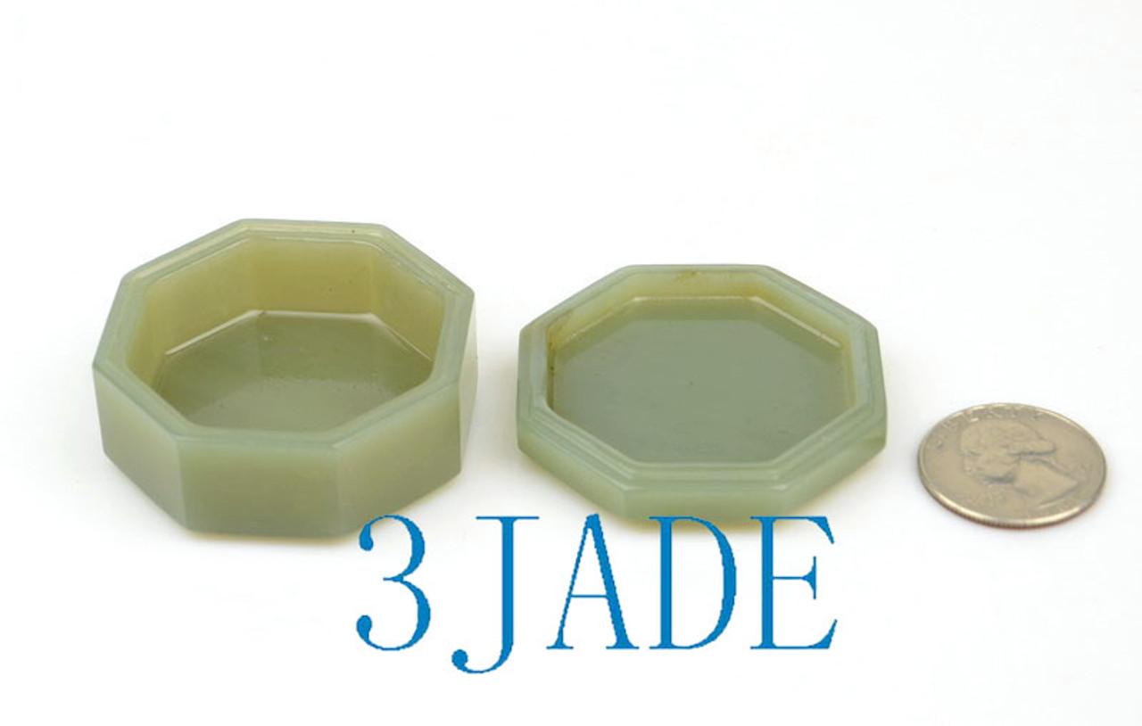 Hand Carved Jade Powder Case