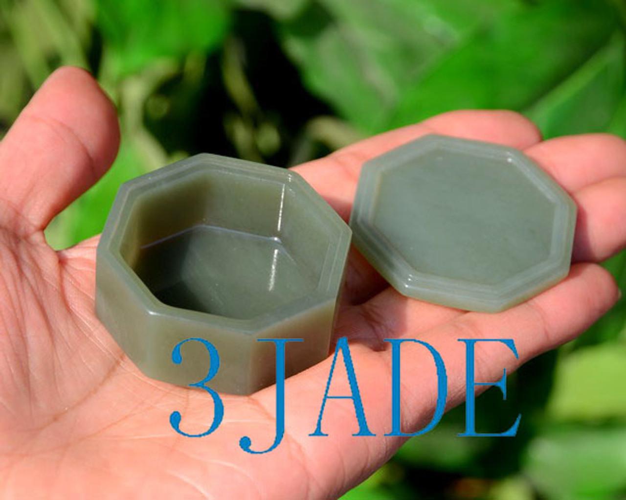 Hand Carved Jade Box