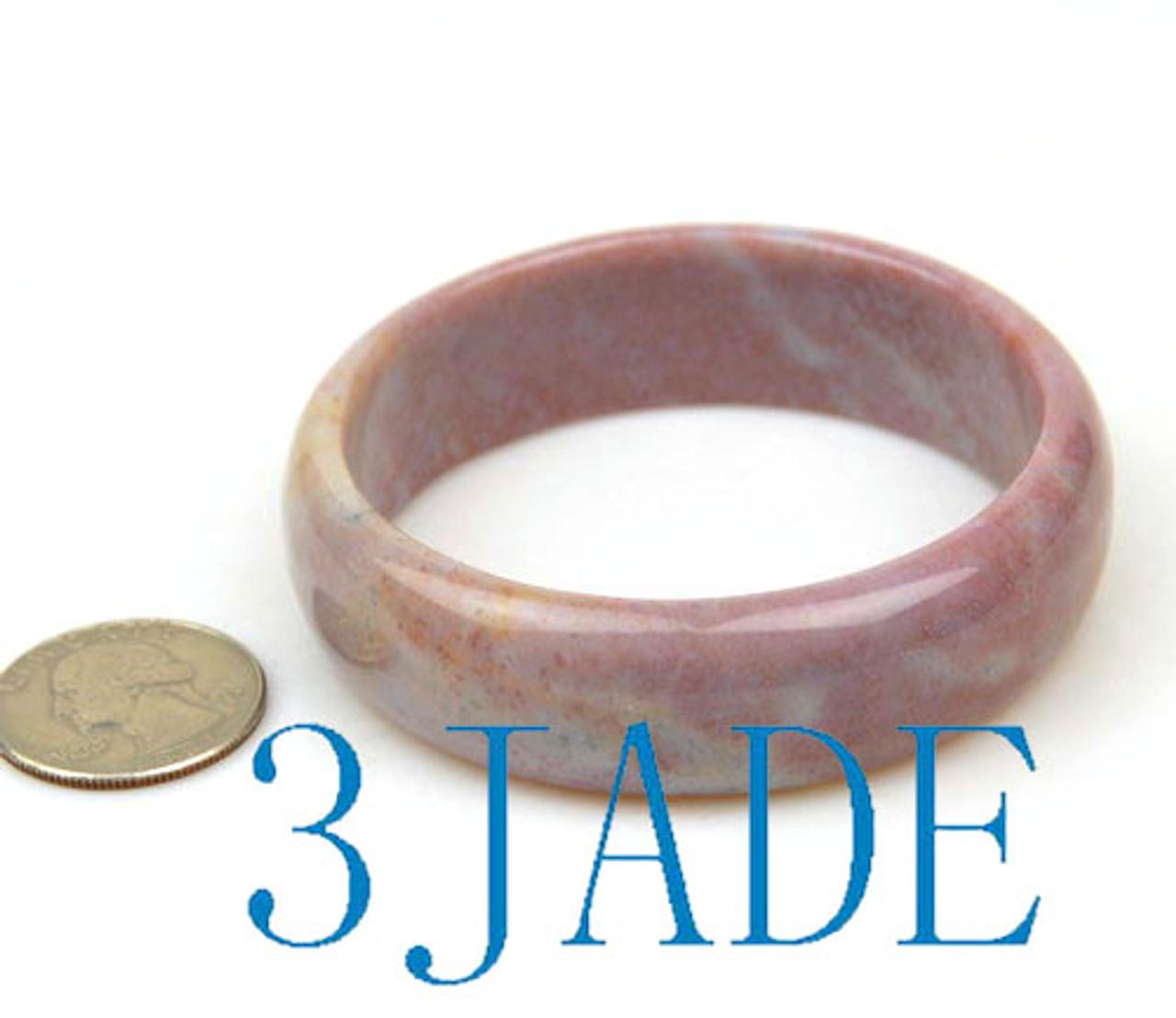 59mm moss agate solid bangle