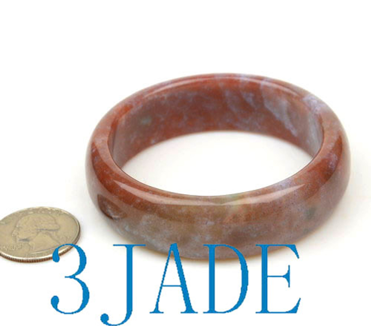 58mm moss agate solid bangle