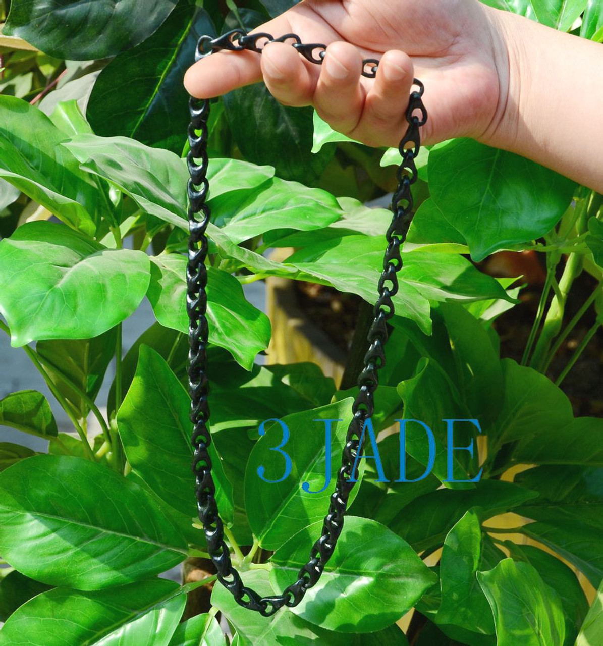 Hand Carved Jade Link Chain