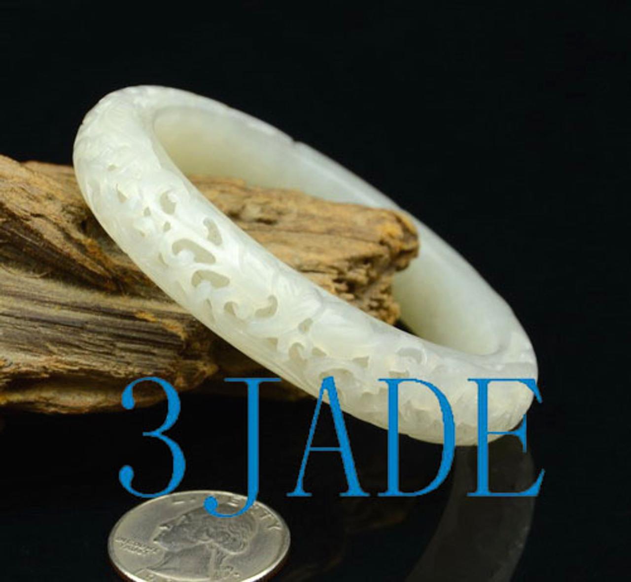 55mm white jade bangle