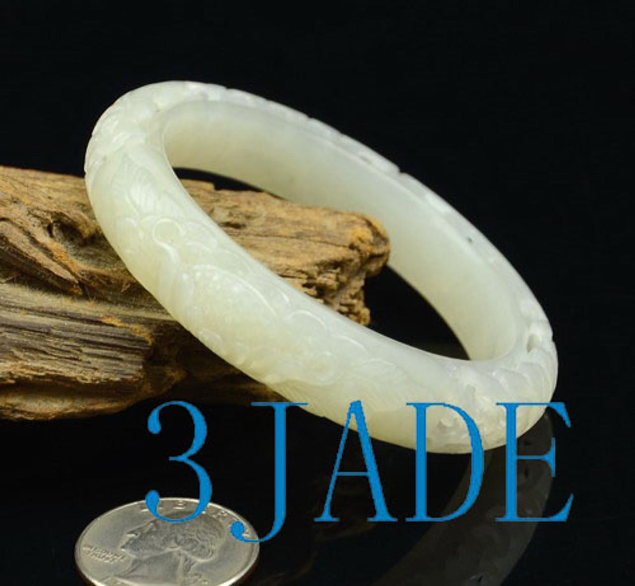 small size white jade bangle