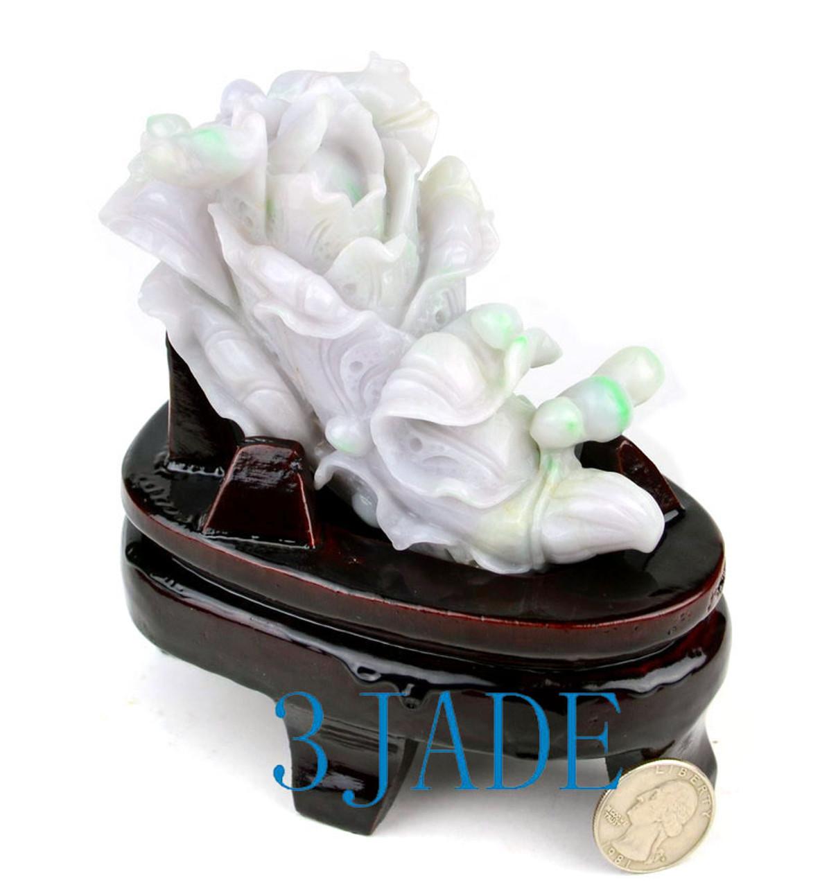 Jadeite Jade Cabbage Sculpture