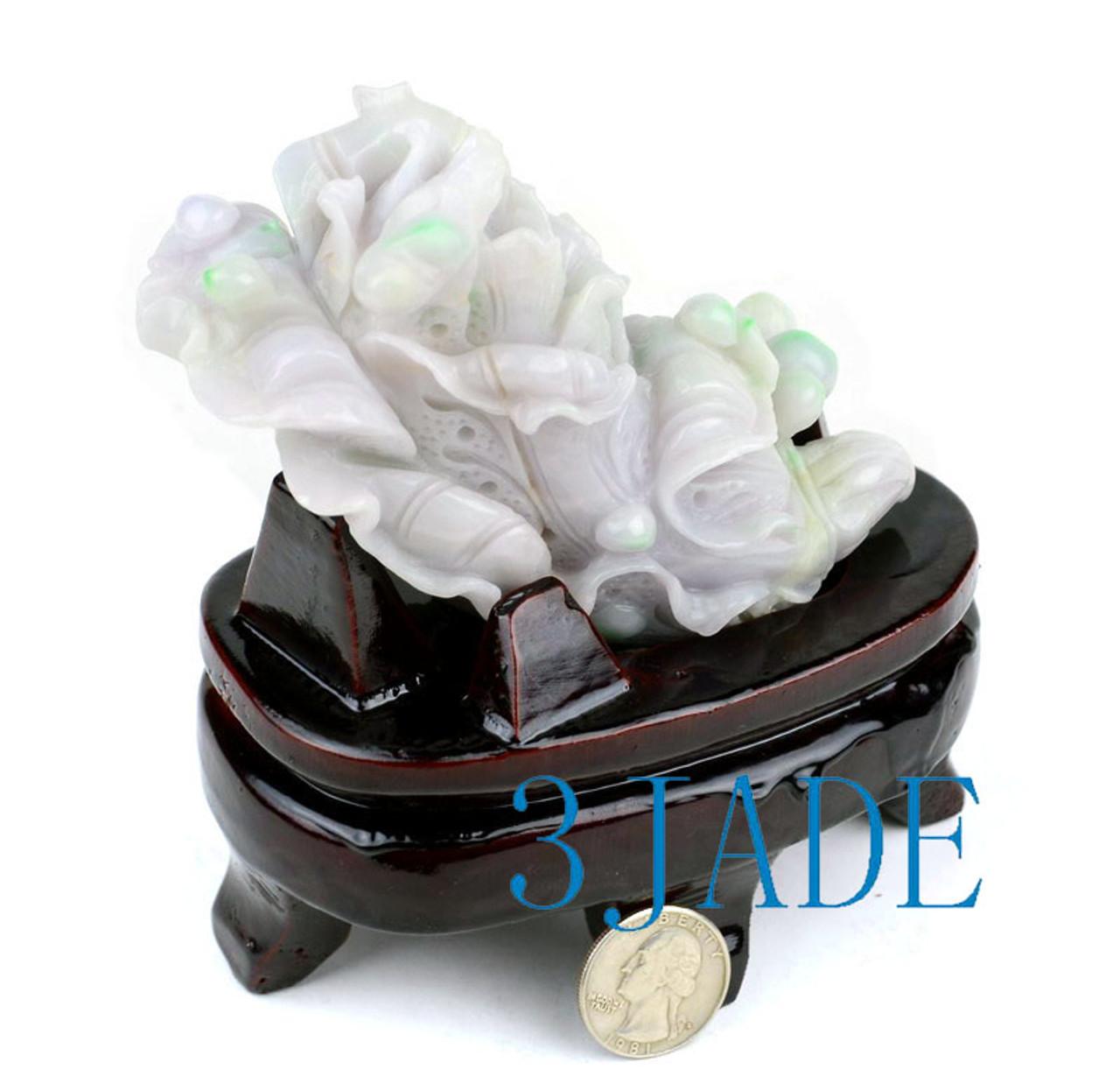 Jadeite Jade Cabbage Carving