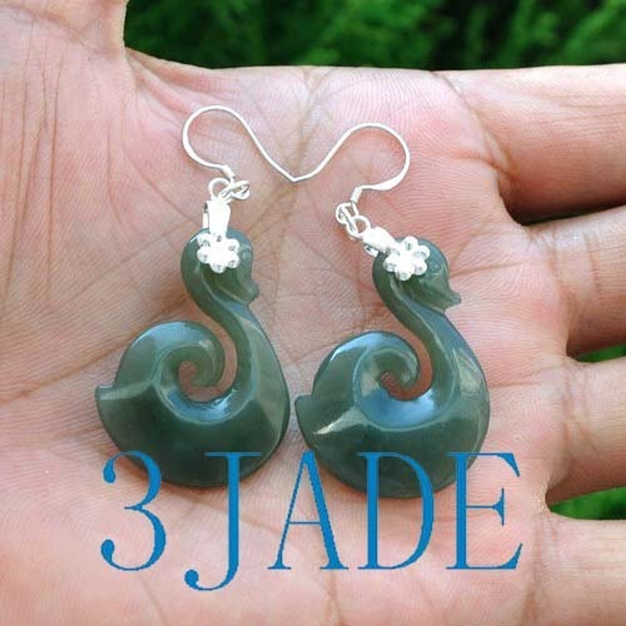 Hand carved earring