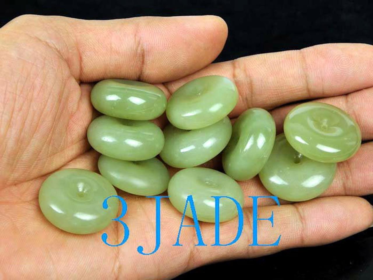 jade disc necklace