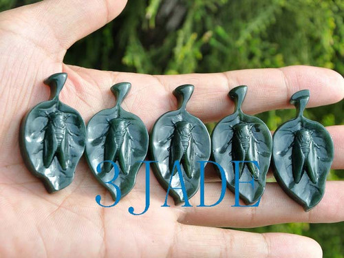 Jade Cicada Necklace
