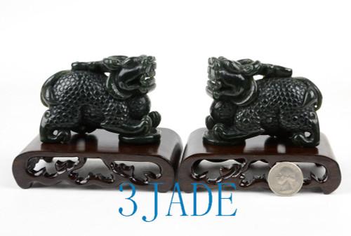 Jade Pixiu Statues  Chinese Feng Shui Carving