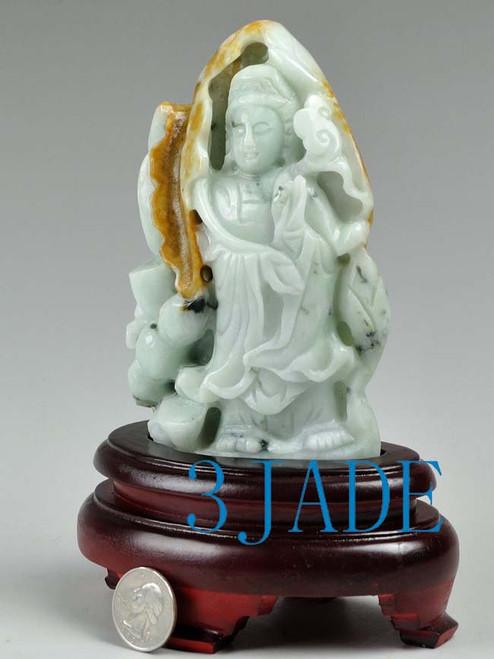 jade Kwan Yin sculpture