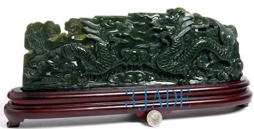 Nephrite Jade Dragons