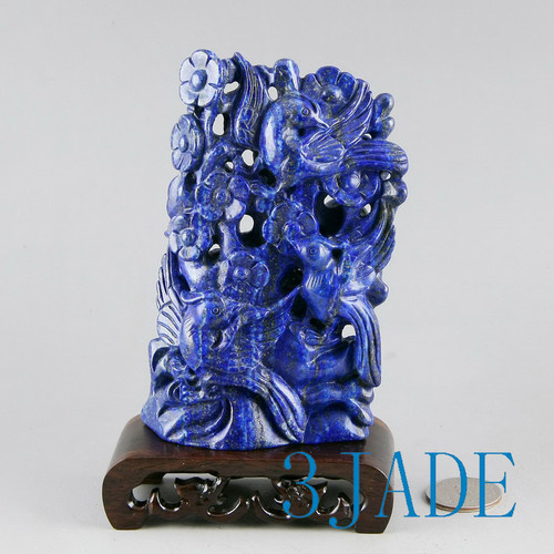 Lapis Lazuli Bird Flower