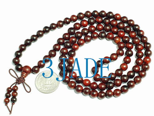 Red Sandalwood Prayer Beads