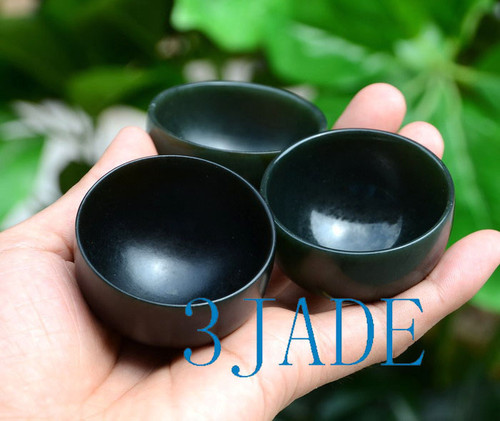 "2"" Handmade Natural Nephrite Jade Cute Bowl / Cup / Shot Glass"