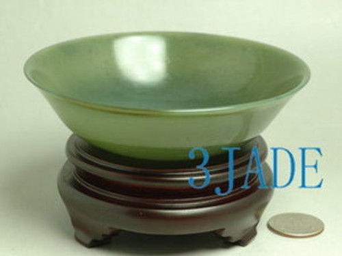 4 1/2 inches nephrite jade bowl