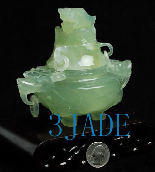 Hand Carved Jade Censer