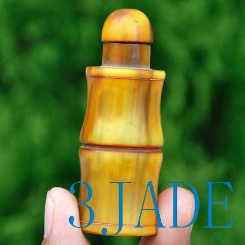 Hand Carved Horn Snuff Bottle -N009087