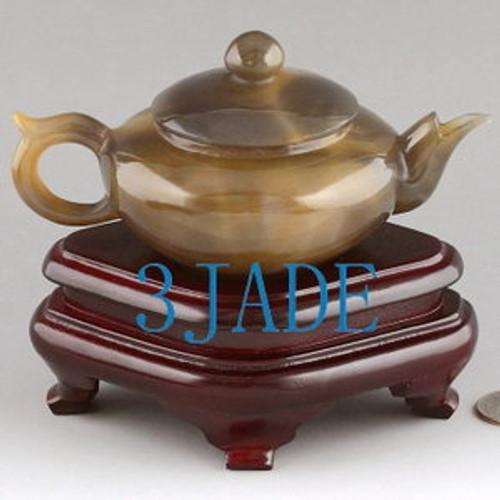 Agate Teapot Statue