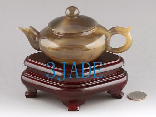 Carnelian teapot Carving