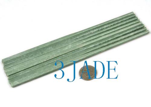 green jade stone chopsticks