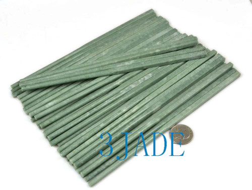 4 Pairs of Handmade Natural Green Marble / Stone / Chinese Jade Chopsticks -N012016