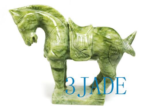 green jade horse