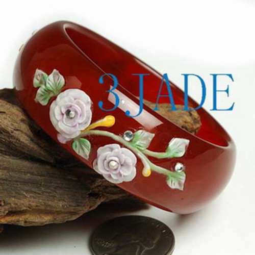 55mm red bangle