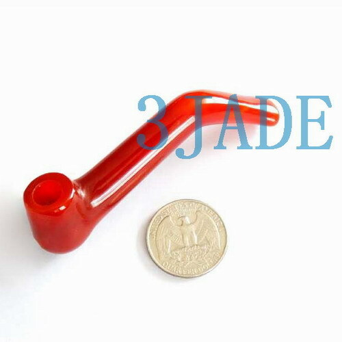 Hand Carved Carnelian /Red Agate Cigarette Holder / Tobacco Pipe