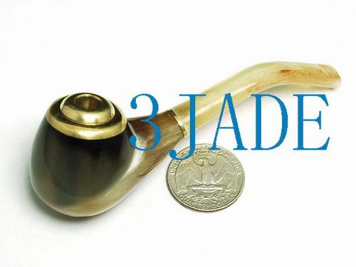 Handmade Horn Tobacco Pipe / Cigarette Holder