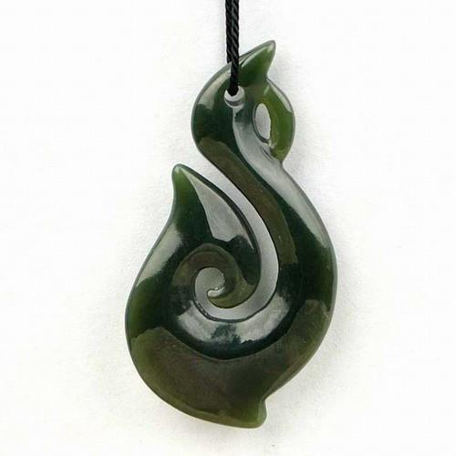 jade fish hook pendant