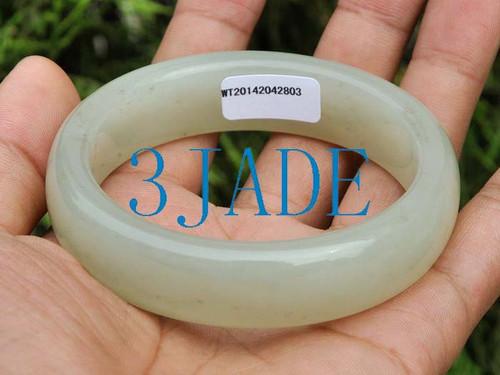60mm Hetian jade bangle