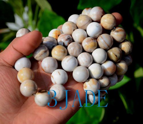 petrified wood beads bracelet