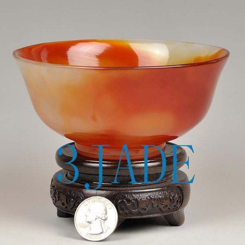 carnelian red agate bowl