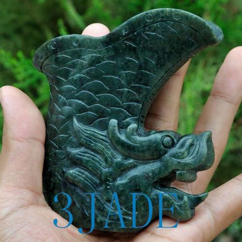 dragon head nephrite jade ZUN cup