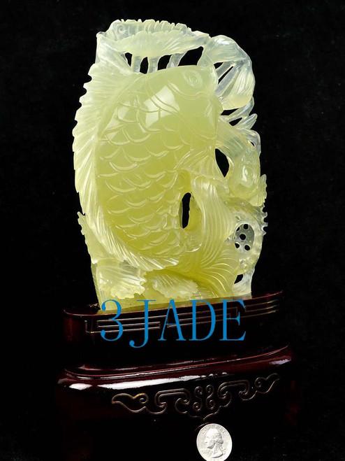 jade Koi fish statue