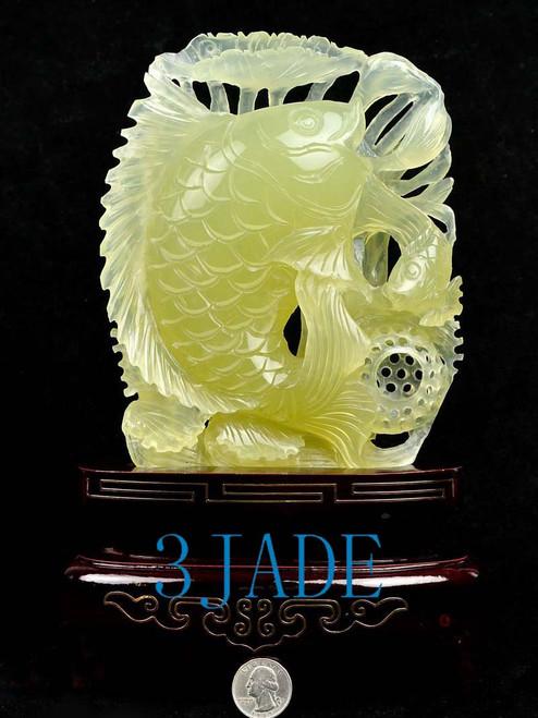 Xiu jade Koi fish