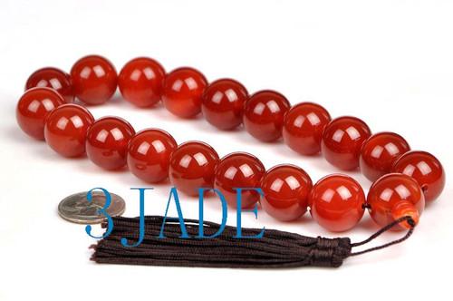 20mm carnelian prayer beads mala
