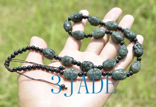 jade Arhat beads