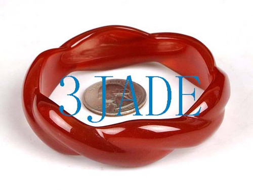 65mm carved tisted carnelian bangle