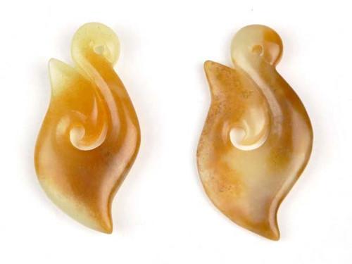 Jade Fish Hook Hei Matau Pendant