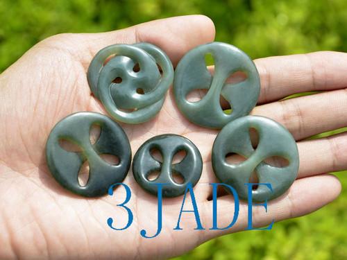 Maori Style Jade Celtic Cross