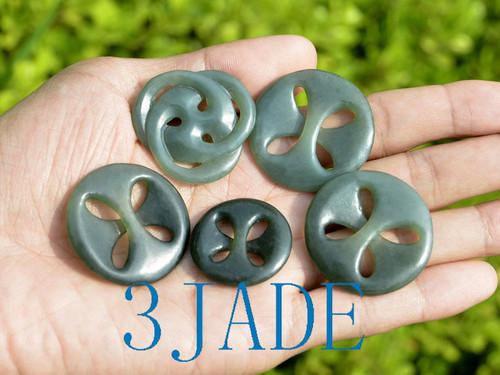 Maori jade celtic cross