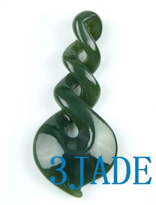 jade triple twist pendant