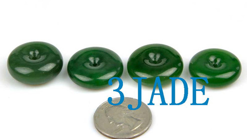 Jade Donut Pendants