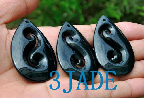 Jade Koru Swirl Necklace