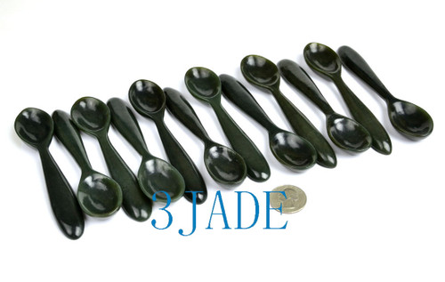 hand carved jade spoon