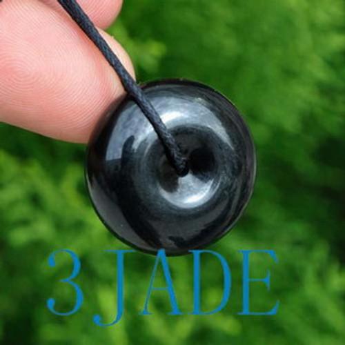 black jade pendant